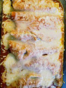 Potato, Mushroom and Kale Enchiladas